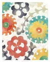Batik Suzani II Framed Print