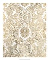 Baroque Tapestry in Gold I Framed Print