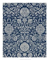 Baroque Tapestry in Navy II Framed Print