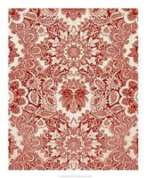 Baroque Tapestry in Red I Framed Print