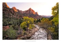 Sunset on the Watchman I Framed Print