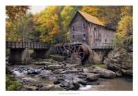 The Mill & Creek I Framed Print