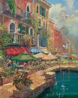 Stroll Along The Marketplace Fine Art Print