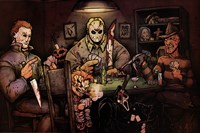 Slashers Playing Poker Fine Art Print