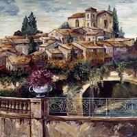 Village By The Stream Fine Art Print