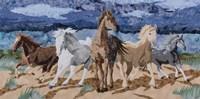 Stampeding Horses Fine Art Print