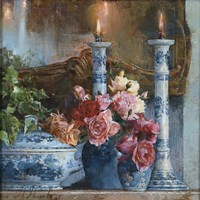 Still Life With Candles Fine Art Print