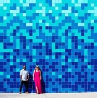 Blue Lovers Fine Art Print