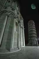Leaning Tower of Pisa at Night Fine Art Print