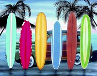 Woody & Surfboards Fine Art Print
