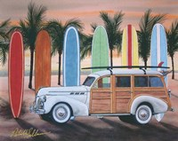 Sunset Woody Fine Art Print
