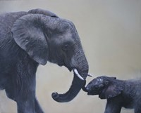 Ele and Baby Mara Fine Art Print