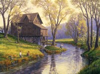 Fishing Mill Creek Fine Art Print