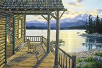 Mountain Lake Retreat Fine Art Print