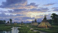 Summer Encampment Fine Art Print