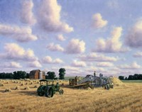Threshing Day Fine Art Print