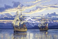 Captain Van Couver Birch Bay, Wa 1792 Fine Art Print