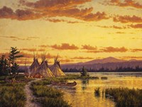 Northern Blackfoot Hunters Camp Fine Art Print