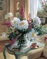 Tea At Marguerites Fine Art Print