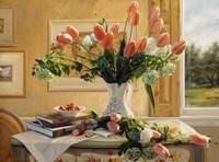 French Tulips and Crab Apples Fine Art Print