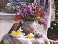 Lilacs And Lemons Fine Art Print