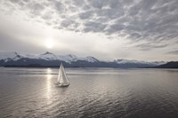 Sailing at Sunset, Alaska 09 Fine Art Print
