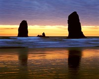 Canyon Beach Sunset, Cannon Beach, Oregon 02 Fine Art Print
