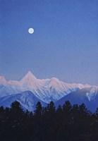 Alpenglow Moon Fine Art Print