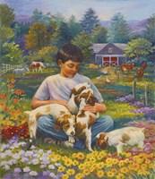 Friends on the Farm Fine Art Print