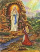 Our Lady Of Lourdes Fine Art Print