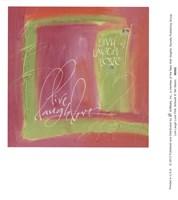 Live Laugh Love Pink Fine Art Print