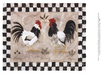 Two Roosters Fine Art Print