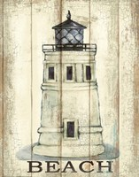Light House White Fine Art Print