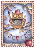 Owl Live Laugh Learn Fine Art Print