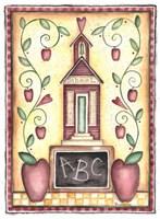 School ABC Primitive Fine Art Print