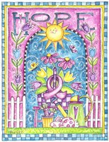 Breast Cancer Awareness: Hope Garden Fine Art Print