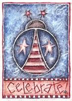 Celebrate Patriotic Ladybug Fine Art Print