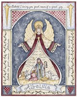 Alleluia Angel Nativity Fine Art Print