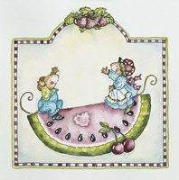 Watermelon Mice Fine Art Print