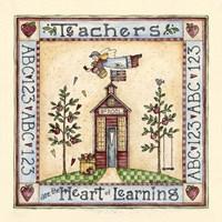 Teachers Are The Heart Of Learning Fine Art Print