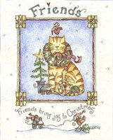 Friends Bring Joy To Christmas Fine Art Print