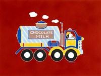 Chocolate Milk Truck Fine Art Print