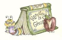Bookworm In Book Fine Art Print