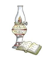School Lamp & Book Fine Art Print