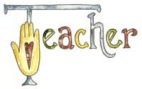 Teacher With Heart Hand Fine Art Print
