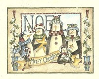 Noel - 4 Penguins Fine Art Print