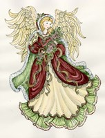 Angel With Roses Fine Art Print