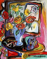 Flowers And Zoritos Fine Art Print