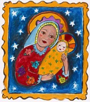 Mexican Inspired Madonna and Child Fine Art Print