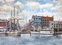 Detroit Water Front 1896 Fine Art Print
